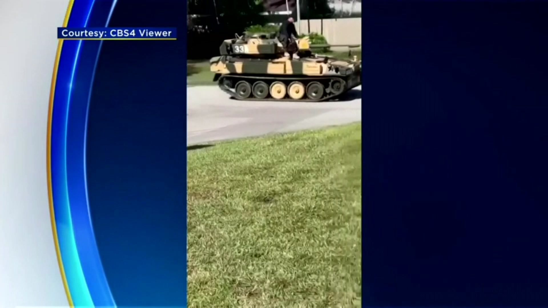 'Is His Purpose To Intimidate Or Show Off': Palmetto Bay Resident Drives Military-Style Tank Through Residential Streets
