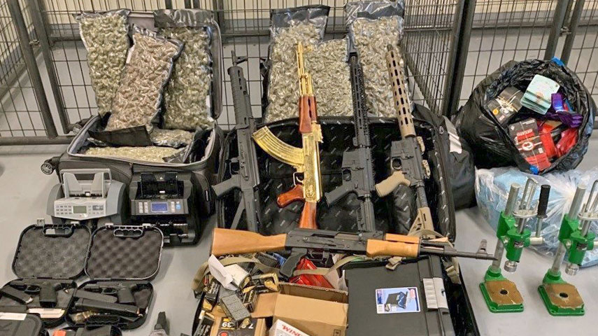 Tarrant County Narcotics Taskforce Takes Large Quantities Of Fentanyl, Illegal Guns, Marijuana, Codeine And Cash Off Streets