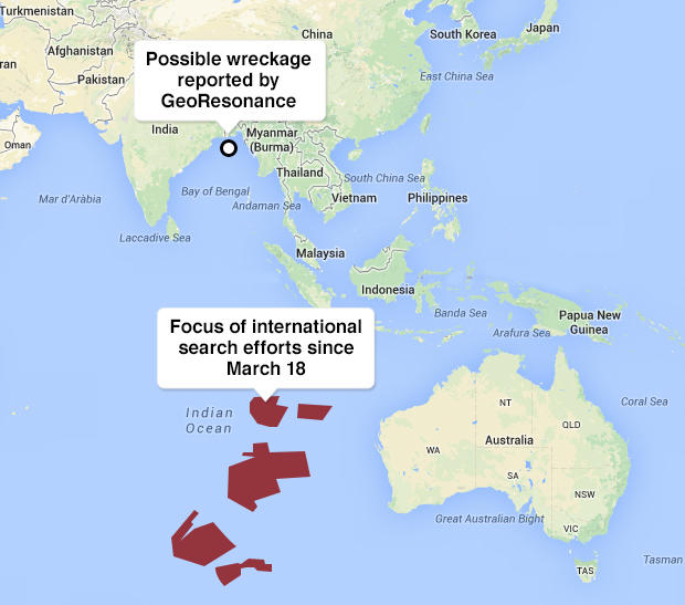 Malaysia-Airlines Search/findings Map