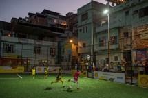 Kids Soccer in Favela Rio De Janeiro Brazil