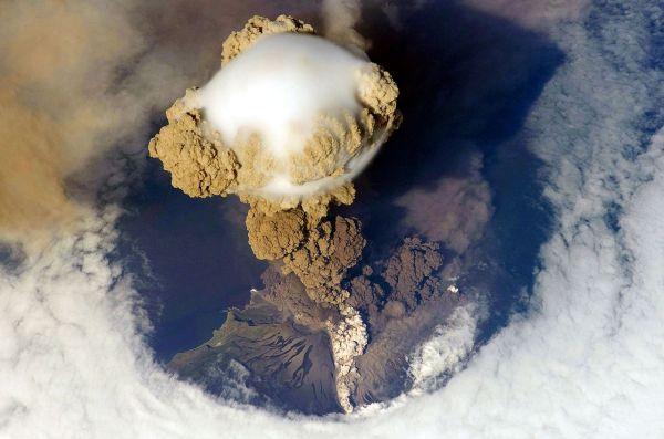 Kliuchevskoi Volcano - Volcanic Eruptions Space Cbs