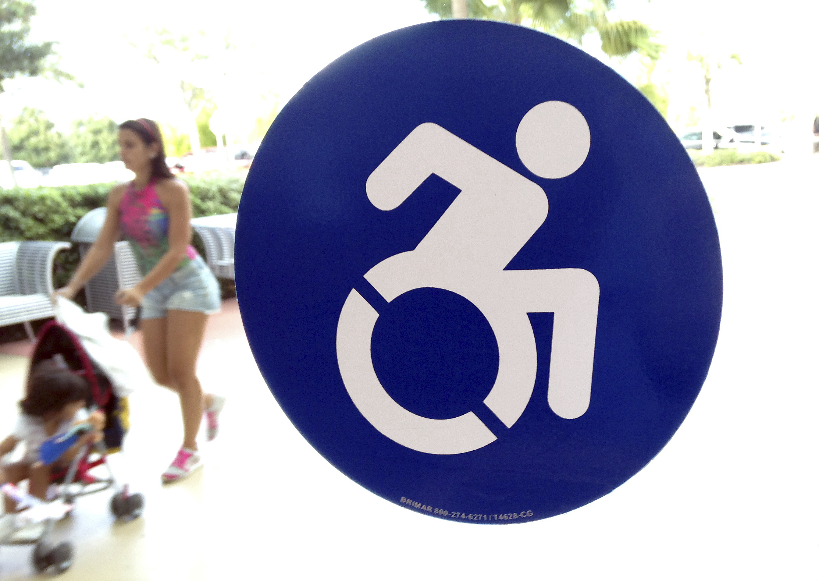 handicapped symbol getting a