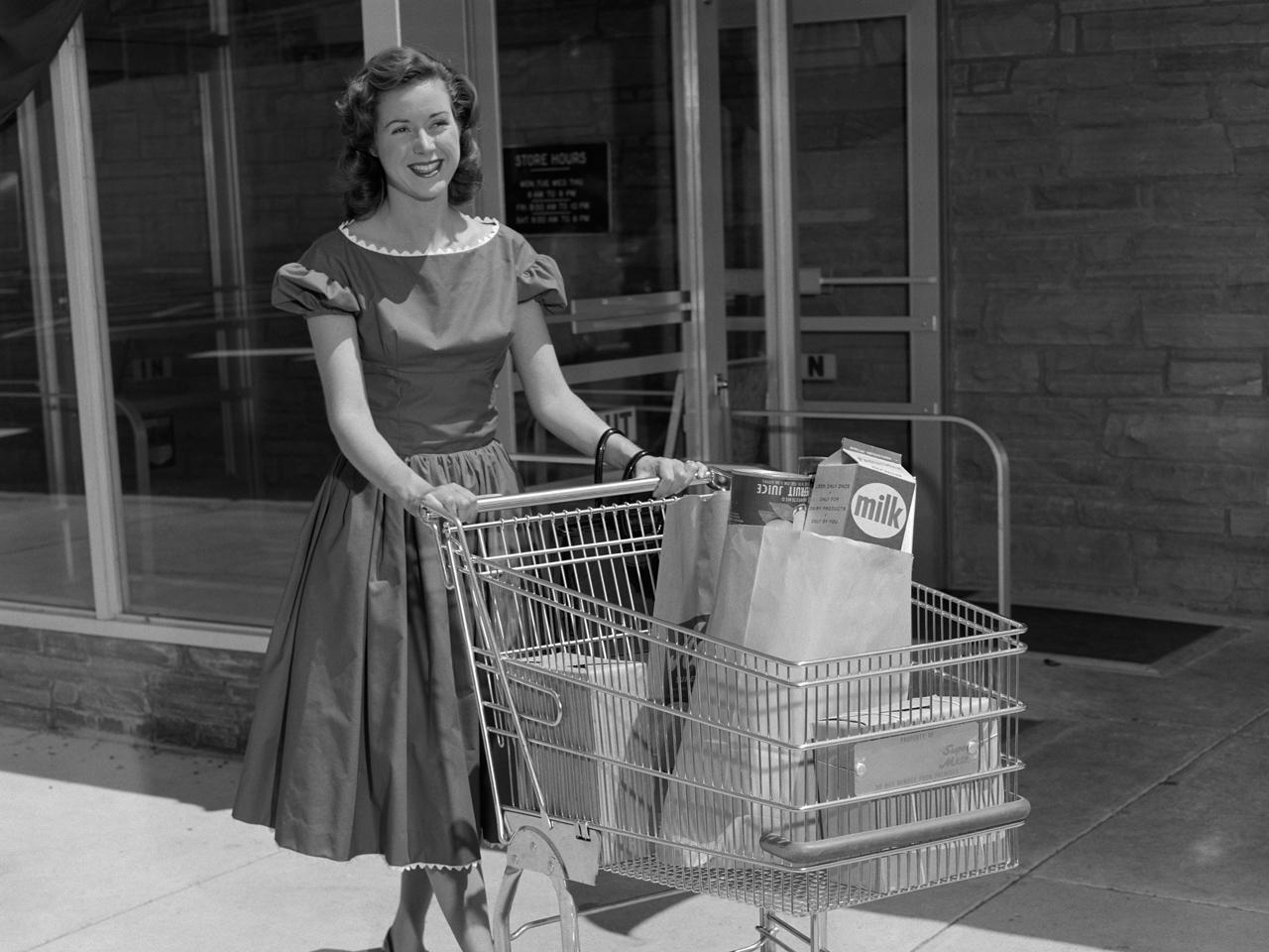 Almanac The first shopping cart  CBS News