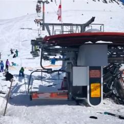 Ski Chair Lift Malfunction Grey Covers Amazon 8 Injured As Hurls Passengers In The Air Gudauri