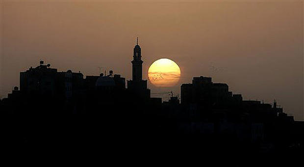 jordanian sunset day in