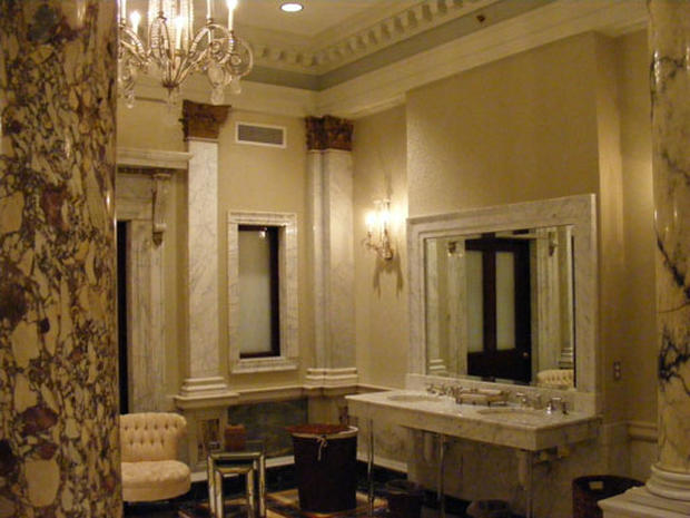 theatre room chairs for heavy guys third place: radio city music hall, new york - america's best bathrooms pictures cbs news