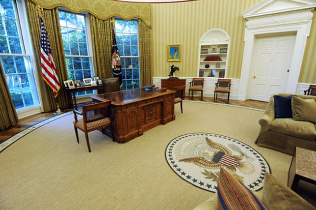 Caramel Colored Leather Sofas Sofa Beds Best Quality The New Oval Office - Photo 1 Pictures Cbs News