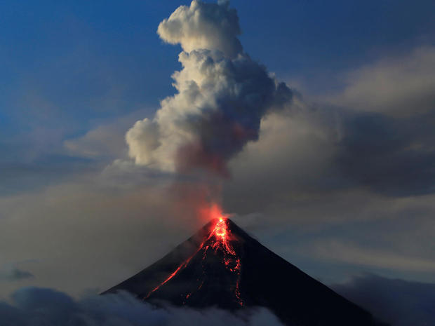 Mount Mayon Volcanic Eruption In The Philippines