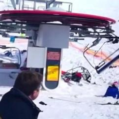 Ski Chair Lift Malfunction High Cover Replacement Malfunctions Tosses Riders In The Air Injuring 8 Skiers Cbs News