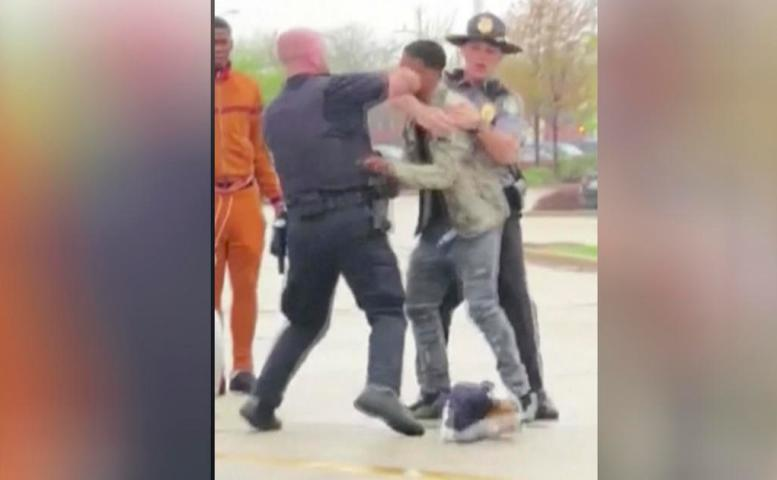 Wisconsin Police Punch Cop