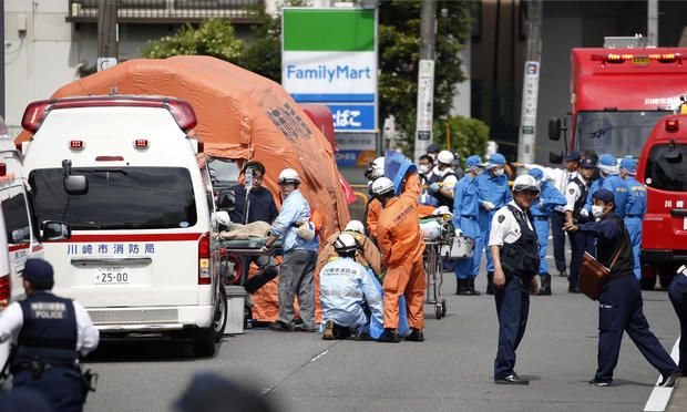 Stabbing in Japan today: Man with knives stabs kids at bus stop near