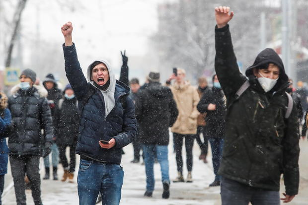 Rally in Moscow in support of Alexei Navalny