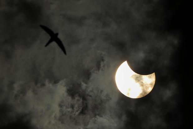 Solar eclipse in Russia