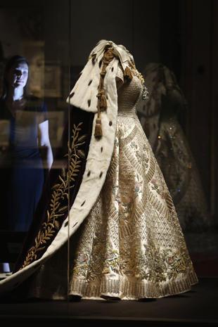 Coronation gown and robe  Queen Elizabeth IIs coronation