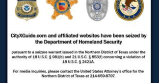 U.S. Department of Justice Seizes Major Human Trafficking Site