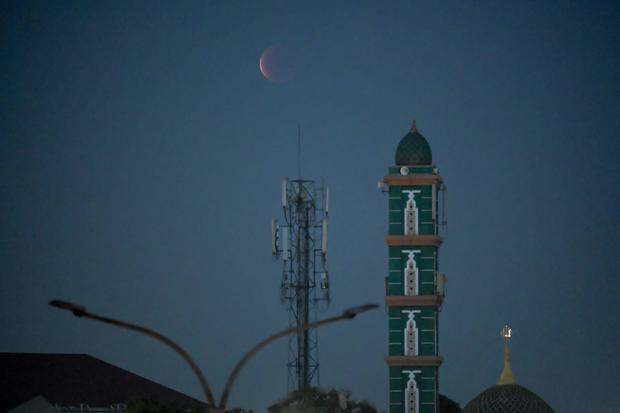 INDONESIA SCIENCE ASTRONOMY MOON ECLIPSE