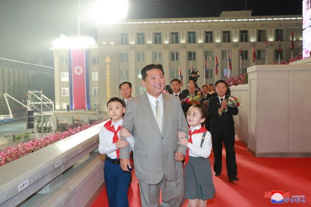 North Korea leader Kim Jong Un attends a paramilitary parade held to mark the founding anniversary of the republic at Kim Il Sung square in Pyongyang