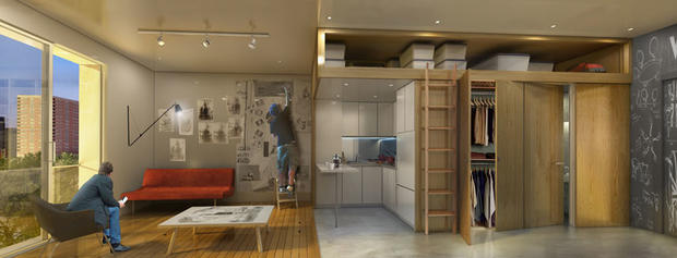 9 Of The Tiniest Apartments In U S Cbs News