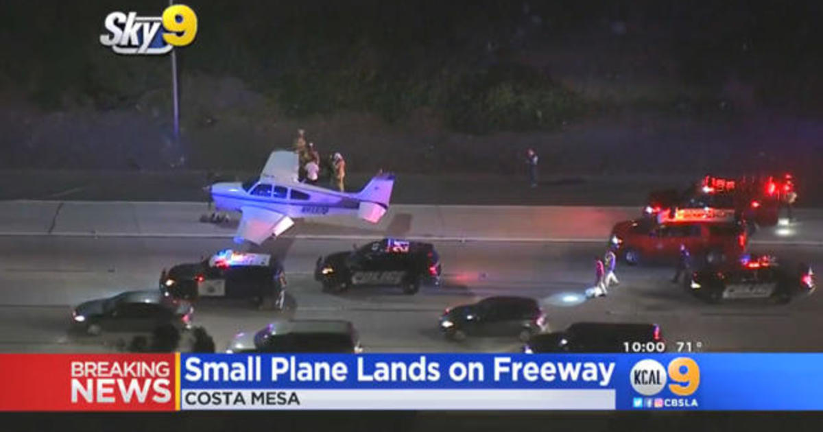 Plane makes miracleemergency landing on freeway in Costa