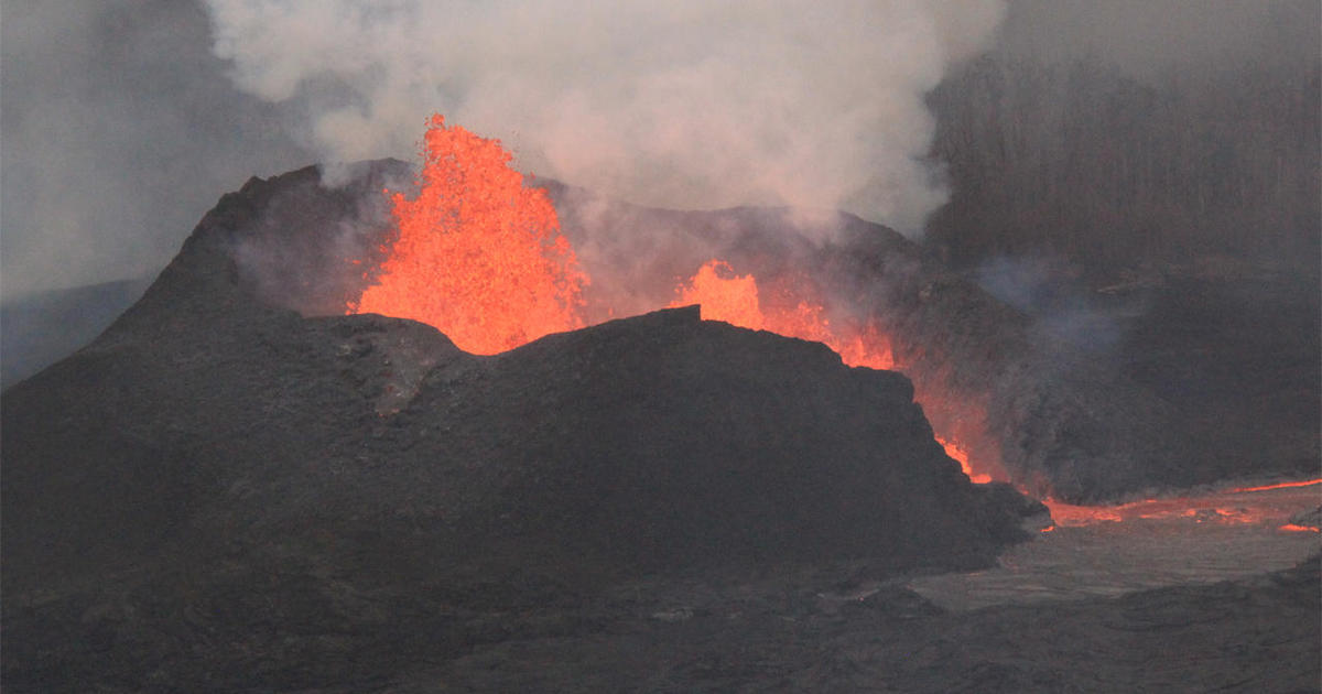Lava Pond Volcanic Eruption In Hawaii Pictures Cbs News