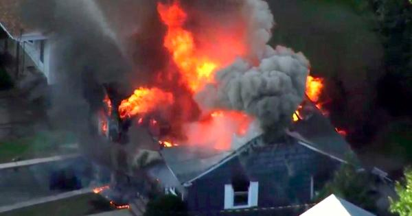Multiple fires gas explosions in Lawrence Andover and