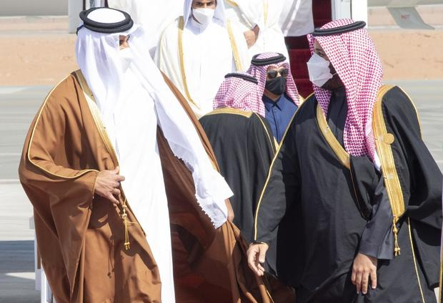 Emir of Qatar Sheikh Tamim bin Hamad al-Thani in Saudi Arabia