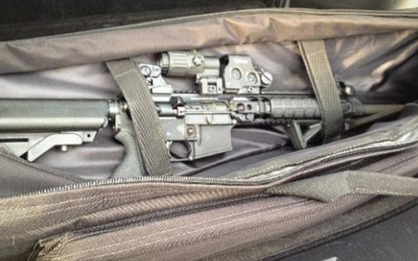 The Tannehill's AR-15 rifle. (photo courtesy of Judith Fleissig)