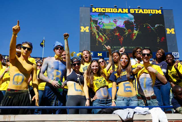 Image result for 2106 michigan football fans