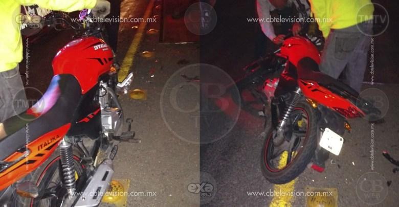 Motociclista resultó lesionado en choque en la Morelia-Charo