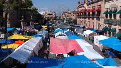 Cumple plantón de la CNTE su primer semana en centro de Morelia