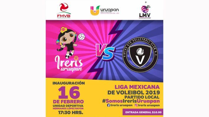 Todo listo para la Inauguración de la Liga Mexicana de Voleibol en la Unidad Deportiva