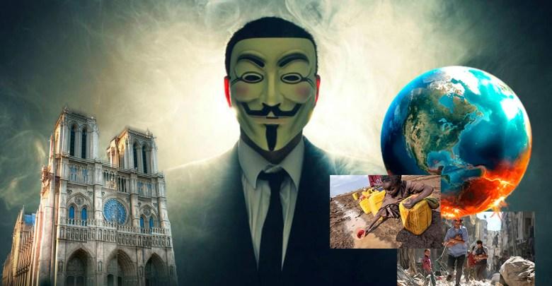 """""""Prioridades equivocadas"""" dice Anonymous por las millonarias donaciones que se han recibido para Notre Dame"""
