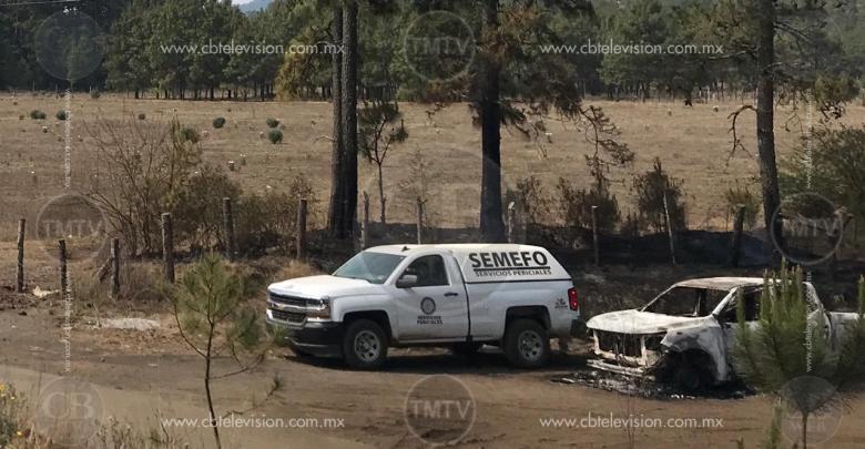Localizan cinco cuerpos calcinados en una camioneta
