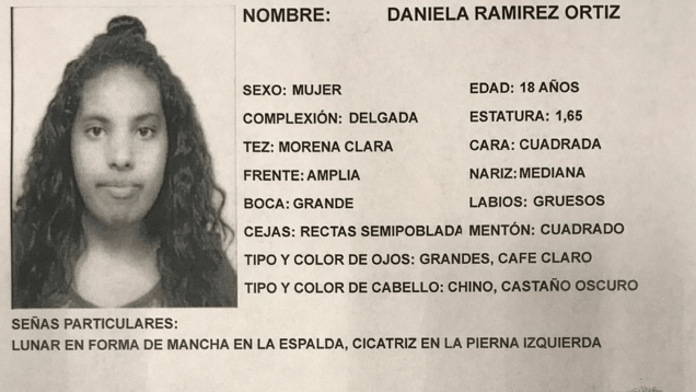 Una de las osamentas halladas en Tlalpan pertenece a Daniela, raptada por un taxista
