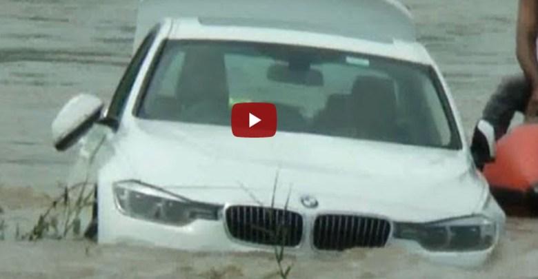 Video: Joven tira un BMW al río porque no le regalaron un jaguar en su cumpleaños