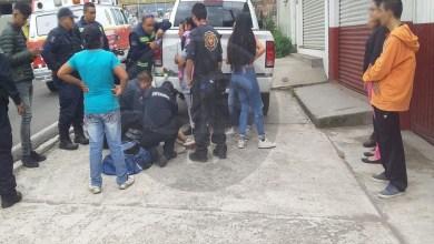 Dos menores se lesionan de accidente de moto