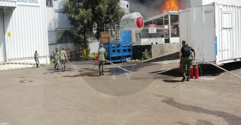 Incendio consume fábrica en la Ciudad Industrial de Morelia