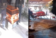 Photo of En precarias condiciones, sobre sillas y tabiques velan a policías caídos en Aguililla
