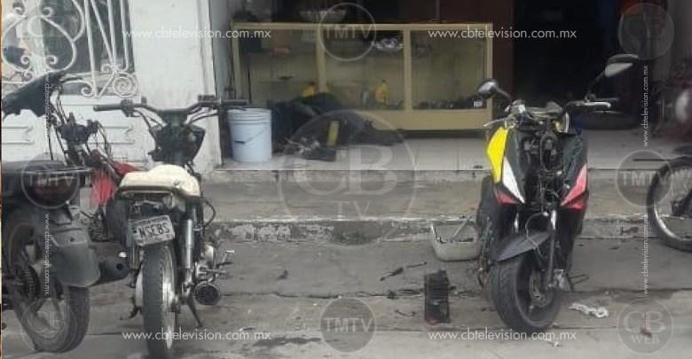 Asesinan a 4 hombres en un taller de motos