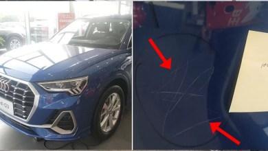 Photo of Niña raya 10 autos Audi con una piedra; padres tendrán que pagar miles de dólares