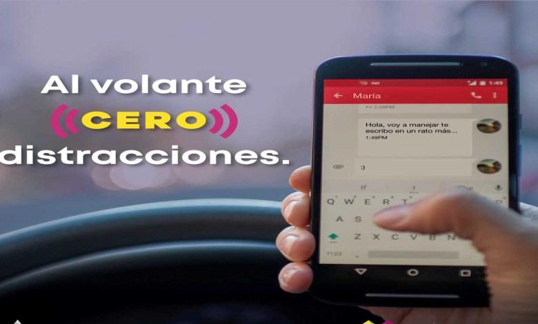 Exhorta SSP evitar el uso del celular mientras conduce