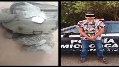 Photo of Asegura Policía Uruapan a masculino con Cocaína y Marihuana