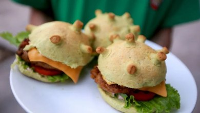 Photo of ¿Miedo al contagio? Ya hay hamburguesas con forma de COVID-19, para que lo elimines a mordidas