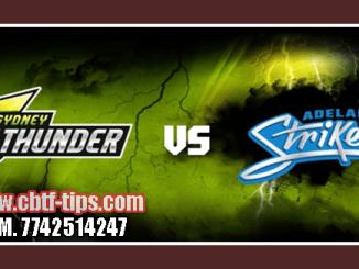 Adelaide vs Thunder Match Reports Toss Lambi Pari SYT vs ADS