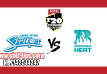 Brisbane Heat vs Adelaide Strikers BBL 2018 1st Match Reports Toss Lambi Pari BRH vs ADS