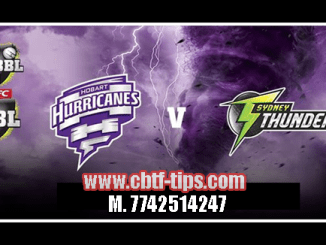 Hobart vs Thunder Match Reports Toss Lambi Pari HBH vs SYT