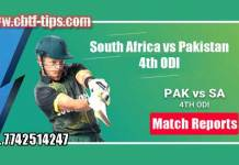 4th ODI Match Reports PAK vs RSA Toss Lambi Pari Session Tips
