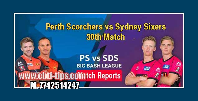 Perth Scorchers vs Sydney Sixers Match Reports Toss Lambi Pari SYS vs PRS
