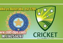 1st T20 IND vs AUS 100% Sure Win Tips Non Cutting Match