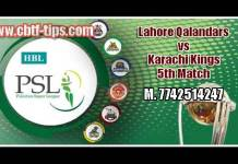 PSL 2019 Lahore vs Karachi 100% Sure Win Tips Non Cutting Match